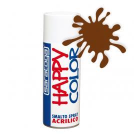 Spray vopsea castaniu happycolor acrilic, 400ml kft auto