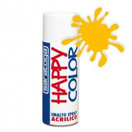 Spray vopsea galben crom happycolor acrilic, 400ml kft auto