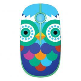 Mouse wireless cu butoane silențioase Super TOUCH, owl