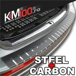 Protectie portbagaj, crom + carbon negru (83 x 7,5cm) maniastiker