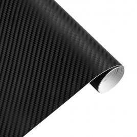Rola folie carbon 3d negru, 10x1.5m, tehnologie de eliminare a bulelor de aer