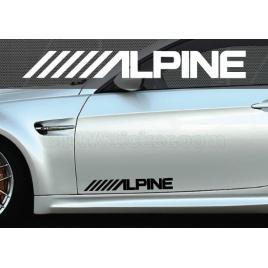 Set 2 buc. sticker auto lateral - alpine maniastiker