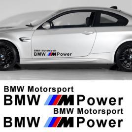 Sticker auto laterale bmw m power (set 2 buc.) maniastiker