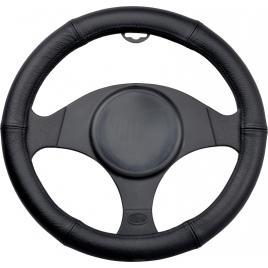 Husa volan piele neagra 44-46cm kft auto