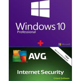 Microsoft Windows 10 + AVG Internet Security