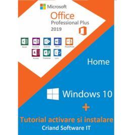 Microsoft Windows 10 Home Retail + Microsoft Office 2019 Pro + Tutorial
