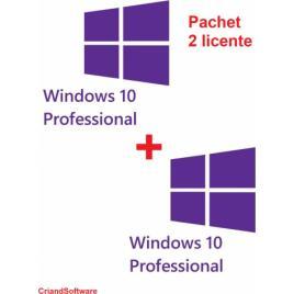 Microsoft Windows 10 PRO Retail - Pachet 2 licente