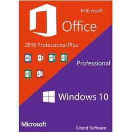 Microsoft Windows 10 Pro Retail + Microsoft Office 2016 Pro Plus