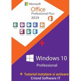 Microsoft Windows 10 Pro Retail+ Microsoft Office 2019 Pro Plus + Tutorial -CRIAND SOFTWARE IT SRL