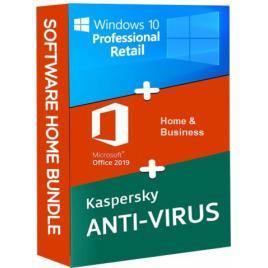 Windows 10 Pro Retail + Microsoft Office 2019 Home and Business + Kaspersky Anti Virus EU
