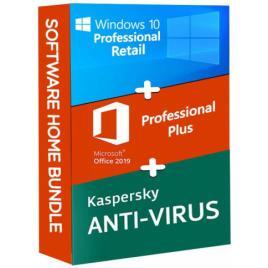 Windows 10 Pro Retail + Microsoft Office 2019 Pro Plus + Kaspersky Anti Virus EU