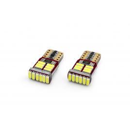 Set 2 becuri led canbus 18smd 4014 t10e (w5w) 12v, alb