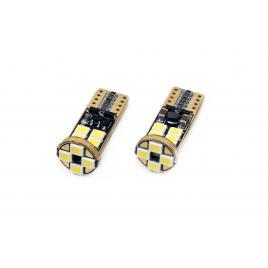 Set 2 becuri led canbus12smd 2835 t10e (w5w),12v / 24v, alb