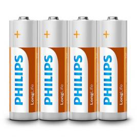 Baterie longlife r6 tip aa blister 4 buc philips
