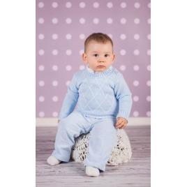 Pulover albastru pentru bebelusi (marime disponibila: 0-3 luni)