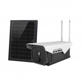 Camera de supraveghere cu panou solar, acumulator, wi-fi ip, 2 mp, slot card micro sd