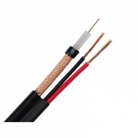 Cablu coaxial cu alimentare rg59 2x0.5 mm rola 50 m