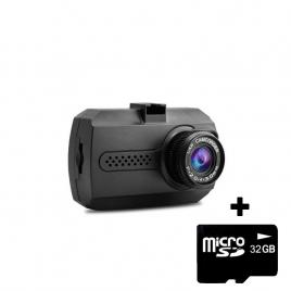 Camera auto dvr techone roadteam v2 mini, hd, night vision, unghi de filmare 100 grade, negru