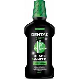 Apa de gura Dental Dream Black and White cu carbune activ 500 ml