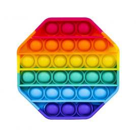 Jucarie Pop It, multicolor, antistres, din silicon, hexagon