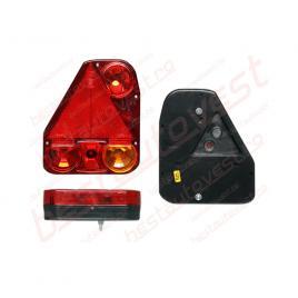 Lampa auto bestautovest pentru remorca partea dreapta cu mers inapoi si triunghi reflectorizant , 174x206.5x54.5mm kft auto