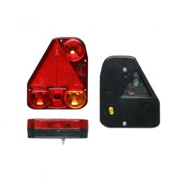 Lampa auto bestautovest pentru remorca partea stanga cu ceata si triunghi reflectorizant 174x206.5x54.5mm kft auto