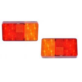 Set 2 lampi spate stop led camion remorca 15 x 8 cm