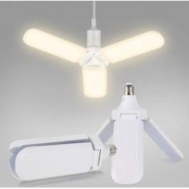 Bec lampa led pliabila cu 3 brate mobile ajustabile soclu e27