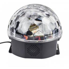 Glob disco cu led rgb mp3 bluetooth crystal magic ball
