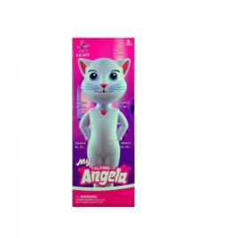 Jucarie talking angela, pisica inteligenta vorbitoare, 28 cm