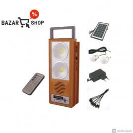 Kit cu panou solar pentru camping, reincarcare solara, radio fm, port tf usb