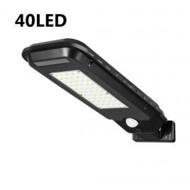 Lampa solara 40 led, senzor de miscare, panou solar, rezistenta la apa, negru - ipf