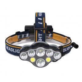 Lanterna de cap profesionala cu 8 led, frontale, super luminoasa, rezistenta la socuri