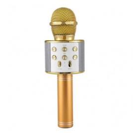 Microfon karaoke fara fir ws-858, acumulator incorporat. compatibil ios si android, tablete ipad si pc, bluetooth.