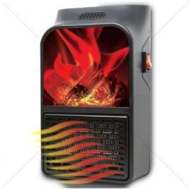 Mini aeroterma portabila flame heater cu telecomanda si display putere 900w