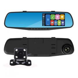 Oglinda auto cu camera fata-spate full hd 1080 + cadou suport telefon
