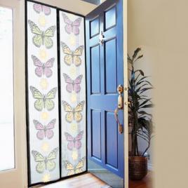 Perdea magnetica anti insecte 210 x 100 cm model fluturi sau flori