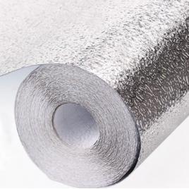 Set 3 x folie bucatarie de aluminiu autocolanta pentru bucatarie 40 x 500 cm (silver)