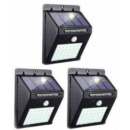 Set de 3 lampi solare cu senzor de miscare