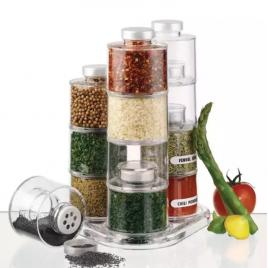 Suport organizator condimente 12 piese spice tower