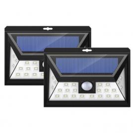Set 2 x lampa solara 32 led cu lumina panoramica si senzor de miscare