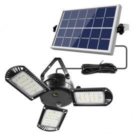 Lampa cu Panou Solar Premium, 60 LED, 800lm, Telecomanda, Reglabila 360°, Acumulator 4400mah