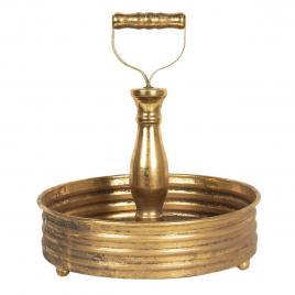 Tava din metal auriu Ø 25 cm x 27 h