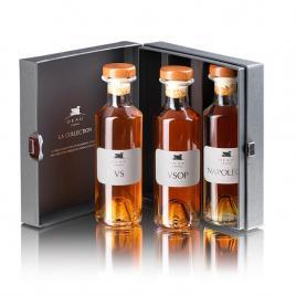 Deau cognac tasting kit (xo, black, louis), 3×0,2l
