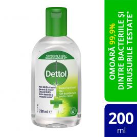 Gel Dezinfectant Dettol pentru maini, Antibacterian, 200 ml