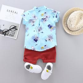 Costum bebelusi cu pantalonasi si camasuta - koala (marime disponibila: 6-9...