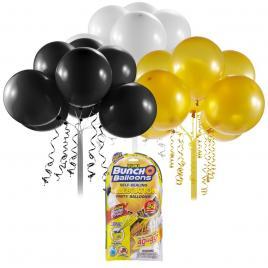 Rezerve baloane pentru petrecere bunch o balloons negru/auriu/alb