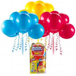 Rezerve baloane pentru petrecere bunch o balloons rosu/galben/albastru