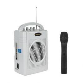 Kit wireless portabil, microfon + boxa amplificator, 8 ohm, putere max 50w