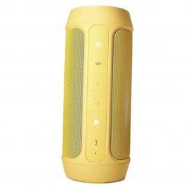 Boxa portabila wireless bluetooth cu port usb si slot card sd, charge 2+, rezistenta la apa, culoare auriu